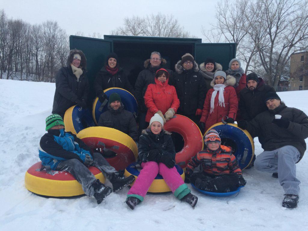 Un des projets de la Table de quartier : boîtes à activités spontanées dans les parcs afin d'encourager la pratique d'activités sportives pour les jeunes et les familles.
