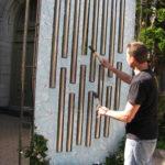 le xylophone fait partie de la création d'un espace ludique sur la rue Wellington.