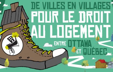 « De villes en villages pour le droit au logement » :  marcher pour la cause du logement social