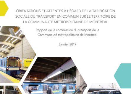 La CMTQ citée dans le rapport sur la tarification sociale de la CMM